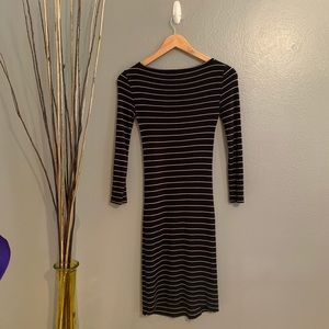 BCBG black and white dress